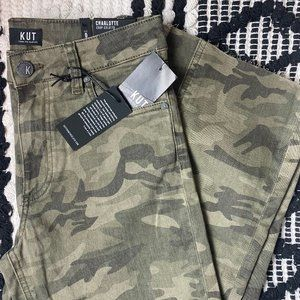 Kut From The Kloth Charlotte Crop Culotte Camo
